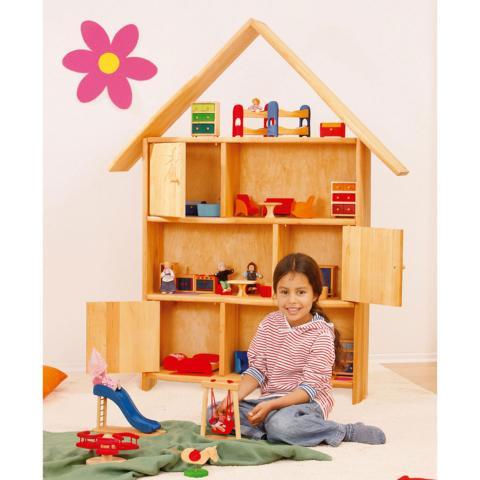 Öko Puppenhaus aus Holz