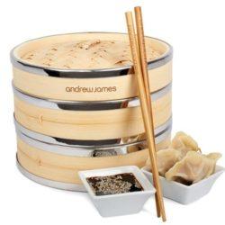 Bambus Dampfkorb - Dampfgaren ohne Plastik