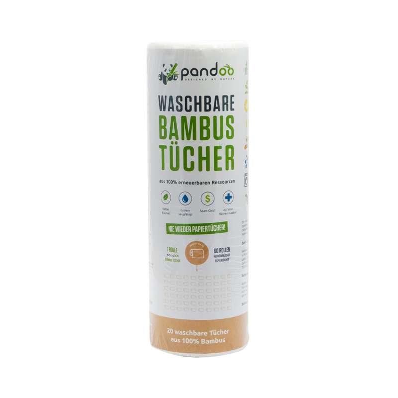 Waschbare Bambus Küchenrolle von Pandoo - plastikfreiheit.de