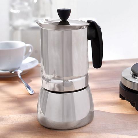Edelstahl Espressokocher echt italienisch
