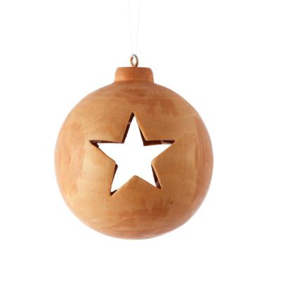 Holz-Weihnachtskugel