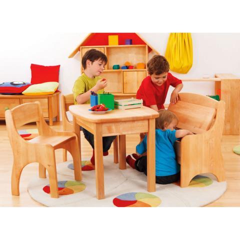 Holzbank für Kinder