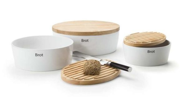 Keramik Brottopf mit massivem Holzdeckel