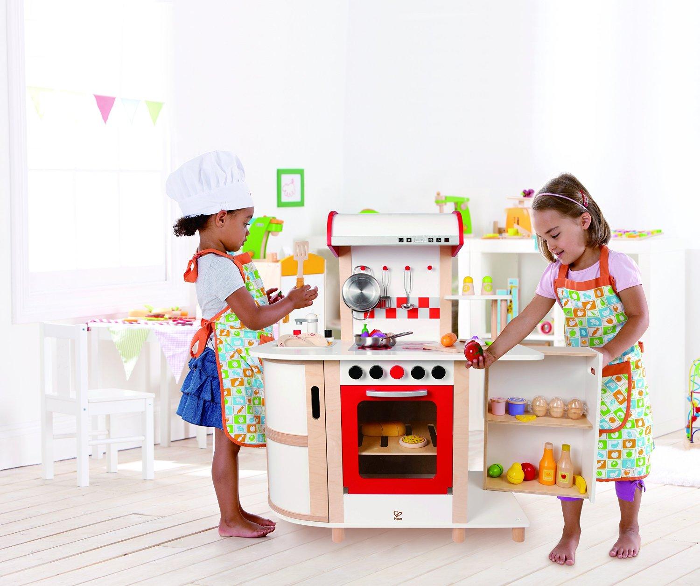 Kinderküche mit Schränken, Backofen, Spüle & Utensilien ...