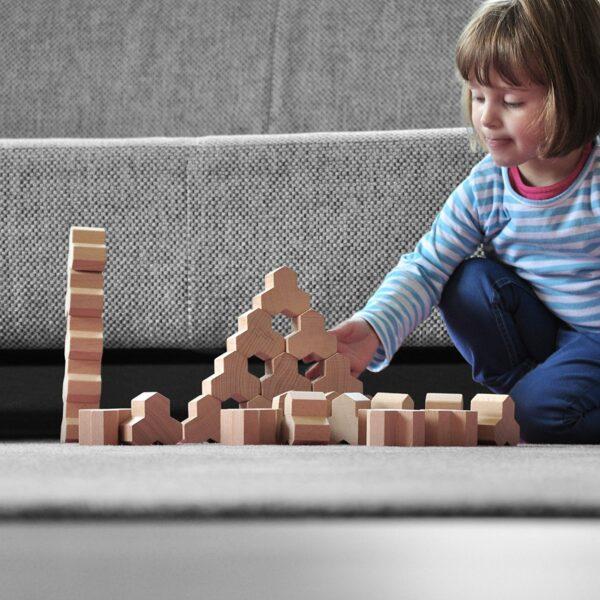 Holzbauklötze Kreativspielzeug Kind