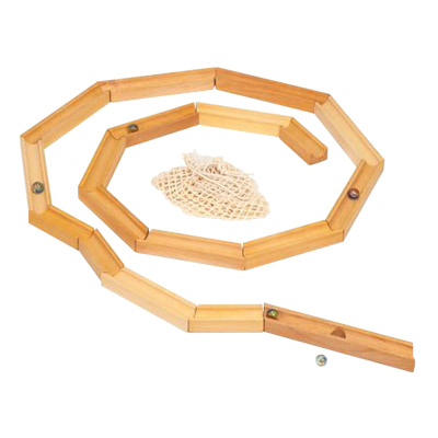 Murmelbahn aus Holz