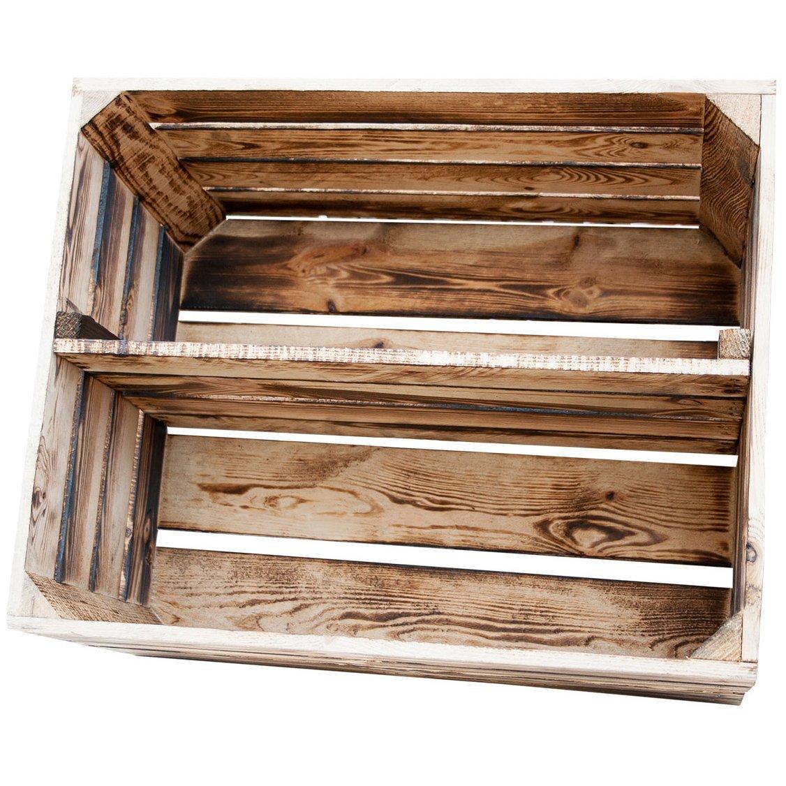 regal aus kisten eine b cherregal obstkiste in geflammtem stil pastikfreiheit de. Black Bedroom Furniture Sets. Home Design Ideas