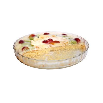 Obstkuchen in Glasbackform