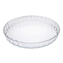 Obstkuchenform aus Glas