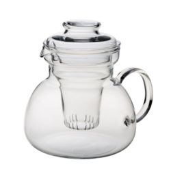 Teekanne mit Glassieb