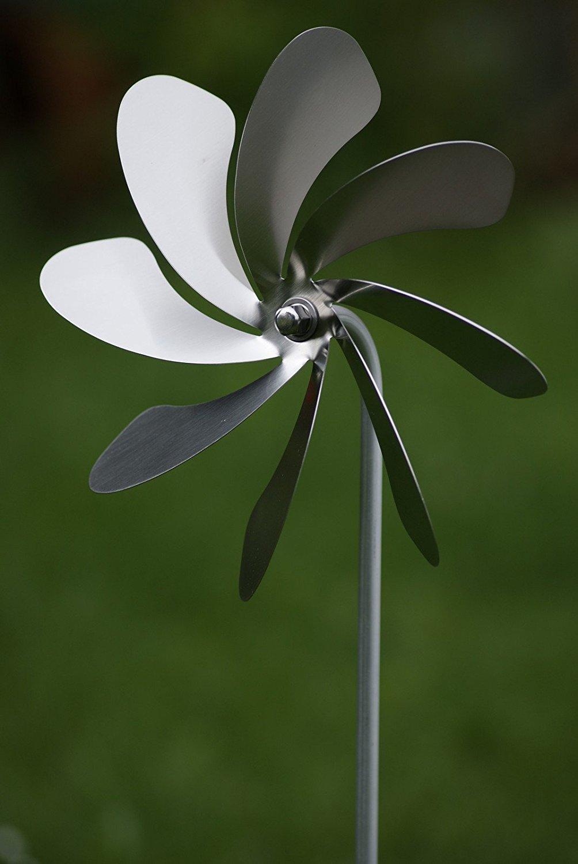 gartendekoration edelstahl, windrad aus edelstahl (20cm durchmesser) gartendekoration, Design ideen