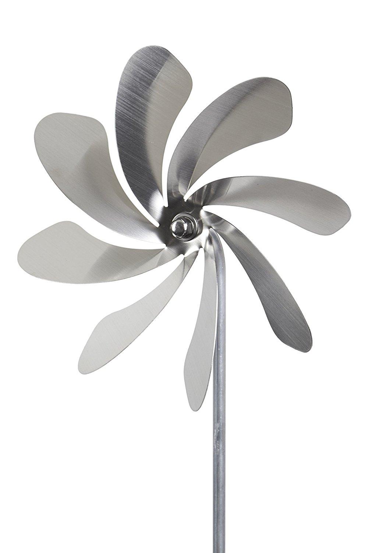 Windrad aus edelstahl 20cm durchmesser gartendekoration for Edelstahl gartendekoration