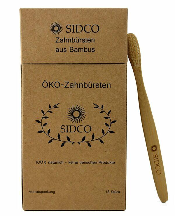 Verpackung Zahnbürste aus Bambus